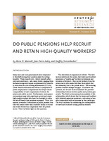 Do public pensions help recruit and retain high-quality workers?