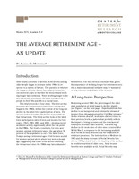 The average retirement age