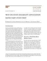Why do state disability application rates vary over time?