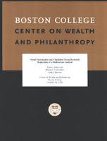 Social participation and charitable giving revisited