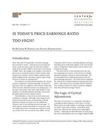 Is today's price-earnings ratio too high?