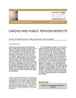 Unions and public pension benefits