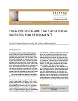 How prepared are state and local workers for retirement?