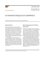 Is pension inequality growing?