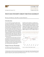 Why did poverty drop for the elderly?