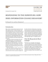 Responding to the downturn