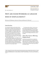 Why are older workers at greater risk of displacement?