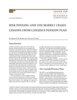 Risk pooling and the market crash