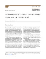 Pension buyouts