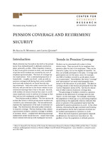 Pension coverage and retirement security