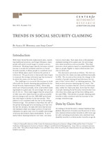 Trends in Social Security claiming
