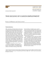 The decline of career employment