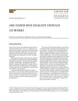 Are older men healthy enough to work?