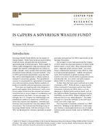 Is CalPERS a sovereign wealth fund?