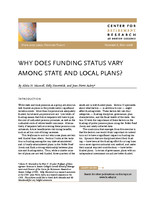Why does funding status vary among state and local plans?