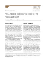 Will people be healthy enough to work longer?