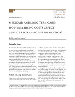Medicaid and long-term care