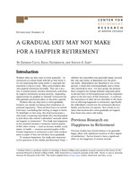 A gradual exit may not make for a happier retirement