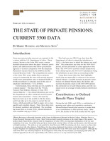 The state of private pensions