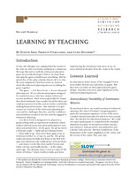 Learning by teaching