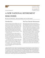 A new National Retirement Risk Index