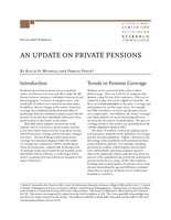 An update on private pensions