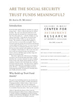 Are the Social Security trust funds meaningful?