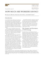 How much are workers saving?