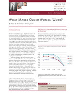 What makes older women work?