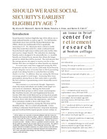 Should we raise Social Security's earliest eligibility age?