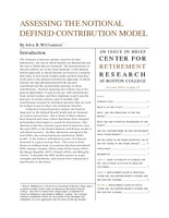 Assessing the notional defined contribution model