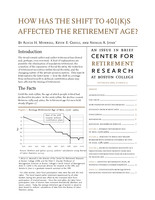 How has the shift to 401(k)s affected the retirement age?