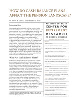 How do cash balance plans affect the pension landscape?