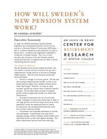 How will Sweden's new pension system work?