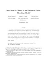 Searching for wages in an estimated labor matching model