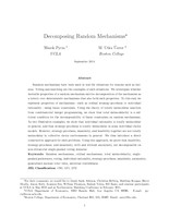 Decomposing Random Mechanisms