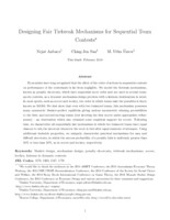 Designing fair tiebreak mechanisms for sequential team contests