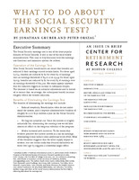 What to do about the Social Security earnings test?