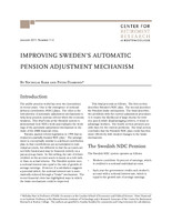 Improving Sweden's automatic pension adjustment mechanism