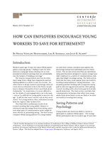 How can employers encourage young workers to save for retirement?