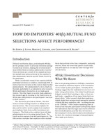 How do employers' 401(k) mutual fund selections affect performance?