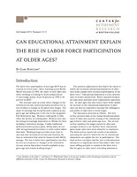 Can educational attainment explain the rise in labor force participation at older ages?