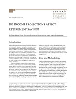 Do income projections affect retirement saving?