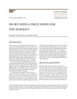 Do we need a price index for the elderly?