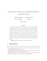 Nonparametric estimation of demand elasticities using panel data