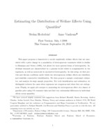 Estimating the distribution of welfare effects using quantiles