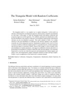 The triangular model with random coefficients