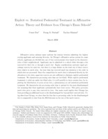 Explicit vs. statistical preferential treatment in affirmative action