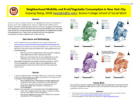 Neighborhood mobility and fruit/vegetable consumption in New York City