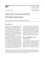 Reducing default rates of reverse mortgages